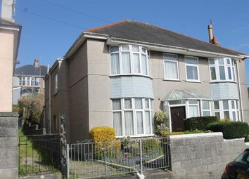 Thumbnail 3 bedroom semi-detached house for sale in Burnham Park Road, Plymouth