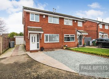 Thumbnail 3 bed semi-detached house for sale in Lambourn Road, Flixton, Manchester