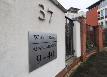Thumbnail 2 bed flat for sale in Watkin Road, Freemans Meadow, Leicester
