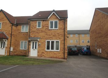 Thumbnail 3 bedroom semi-detached house to rent in Hudson Way, Grantham