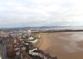 Thumbnail 2 bed flat to rent in Meridian Tower, Swansea Marina, Swansea