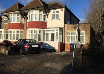 Thumbnail 4 bed semi-detached house for sale in Lulworth Avenue, Wembley, Middlesex