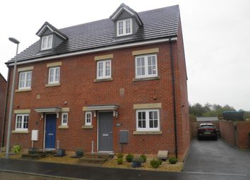 Thumbnail 4 bed semi-detached house for sale in Lonydd Glas, Llanharan, Pontyclun