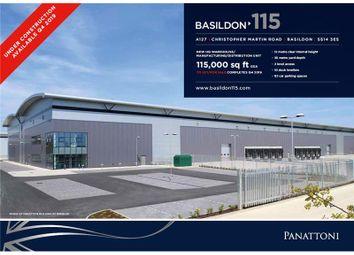 Thumbnail Warehouse to let in Basildon 117, Christopher Martin Road, Basildon, Essex, UK