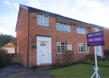 Thumbnail 3 bedroom semi-detached house for sale in Marlborough Avenue, Cheadle Hulme