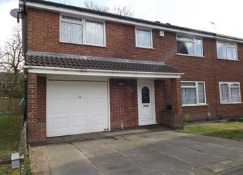 Thumbnail 4 bed semi-detached house to rent in Hunters Way, Leicester Forest East