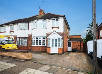 Thumbnail 3 bedroom semi-detached house for sale in Byway Road, Evington, Leicester