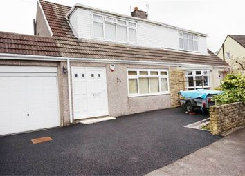 Thumbnail 2 bed semi-detached house for sale in Maes Glas, Cefn Cribwr, Bridgend