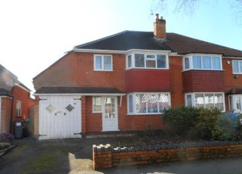 Thumbnail 3 bedroom semi-detached house to rent in Ulverley Green Road, Solihull