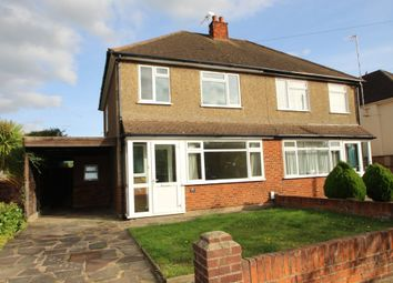 Thumbnail 3 bed semi-detached house for sale in Monks Avenue, West Molesey