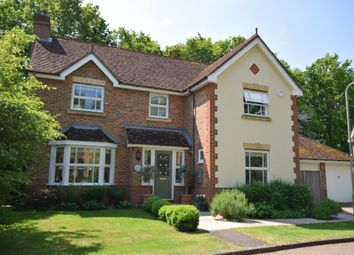 Thumbnail 4 bed detached house to rent in Knox Close, Church Crookham, Fleet