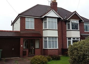 Thumbnail 3 bed semi-detached house to rent in Chester Road, Brownhills, West Midlands