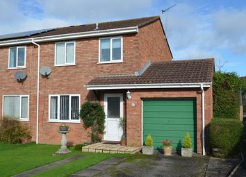 Thumbnail 3 bedroom semi-detached house for sale in Tedders Close, Hemyock, Cullompton