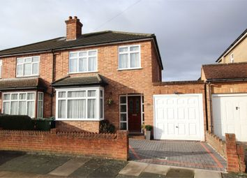Thumbnail 3 bed semi-detached house for sale in St Hildas Avenue, Ashford, Surrey