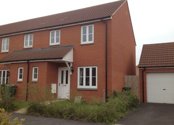 Thumbnail 3 bed end terrace house to rent in Teeswater Walk, Bridgwater