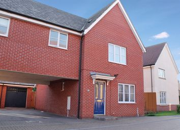 Thumbnail 3 bedroom detached house for sale in Upgate, Long Stratton, Norwich