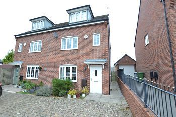 Thumbnail 4 bed semi-detached house for sale in Stanier Close, Macclesfield, Cheshire
