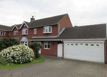 Thumbnail 4 bed detached house for sale in Ridgemere Close, Syston