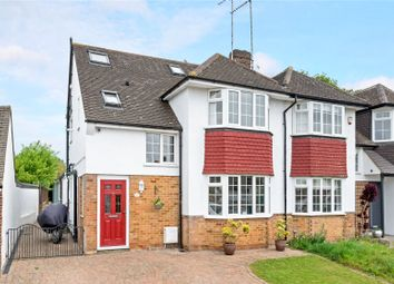 Thumbnail 4 bed semi-detached house for sale in Hill Rise, Esher, Surrey