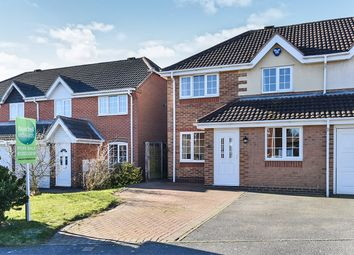 Thumbnail 3 bed semi-detached house for sale in Ascott Drive, Newhall, Swadlincote