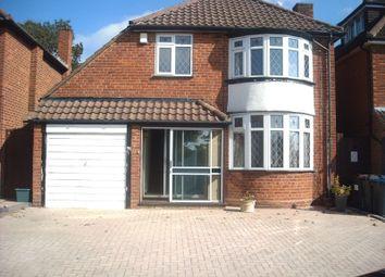 Thumbnail 3 bed detached house to rent in Newburn Croft, Quinton, Birmingham