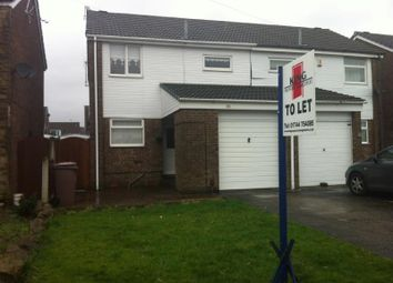 Thumbnail 3 bed semi-detached house to rent in Wedge Avenue, Haydock, St Helens