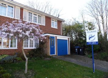 Thumbnail 3 bed semi-detached house to rent in Cheniston Close, West Byfleet