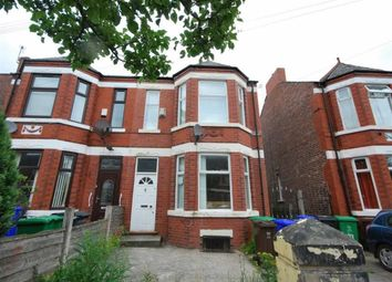 Thumbnail 4 bed semi-detached house to rent in Clarendon Road West, Chorlton Cum Hardy, Manchester