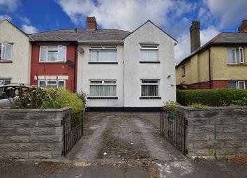 Thumbnail 3 bedroom semi-detached house for sale in Mynachdy Road, Gabalfa, Cardiff.