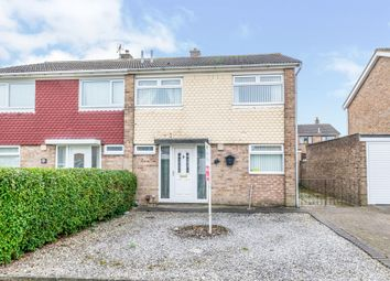 Thumbnail 3 bed semi-detached house for sale in Brough Close, Thornaby, Stockton-On-Tees