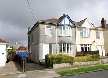 Thumbnail 3 bed semi-detached house for sale in Bowden Park Road, Crownhill, Plymouth