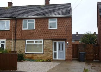 Thumbnail 3 bedroom semi-detached house to rent in Cheviot Avenue, Gunthorpe, Peterborough