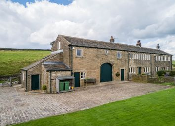 Thumbnail 5 bed farmhouse for sale in Meal Hill Road, Holme, Holmfirth