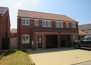Thumbnail 3 bed semi-detached house for sale in Poppy Street, Wymondham