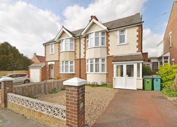 Thumbnail 3 bedroom semi-detached house for sale in Downs Road, Folkestone