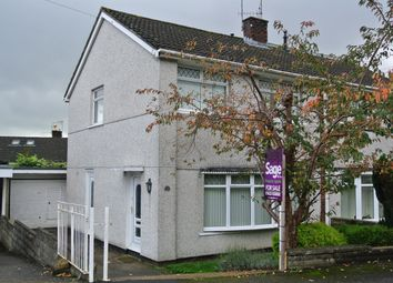 Thumbnail 3 bed semi-detached house for sale in Thornhill Close, Upper Cwmbran, Cwmbran