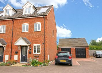 Thumbnail 3 bed end terrace house for sale in Carpenter Close, Wymondham