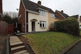 Thumbnail 2 bed semi-detached house for sale in Hawkesley Road, Dudley