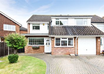 Thumbnail 3 bed semi-detached house for sale in Westerham Close, Addlestone, Surrey
