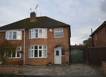 Thumbnail 3 bed semi-detached house for sale in The Fairway, Blaby, Leicester