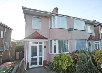 Thumbnail 3 bed semi-detached house for sale in Efford Crescent, Plymouth, Devon