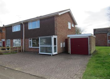 Thumbnail 2 bed semi-detached house for sale in Southey Close, Enderby, Leicester