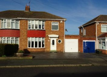 Thumbnail 3 bed semi-detached house for sale in Horwood Avenue, Newcastle Upon Tyne