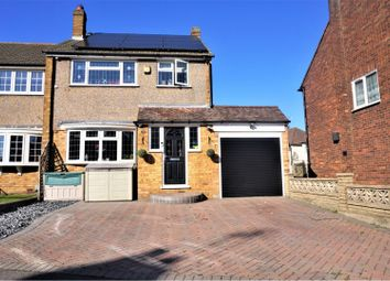 Thumbnail 4 bed semi-detached house for sale in Woodcote Close, Waltham Cross