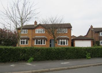 Thumbnail 5 bed detached house for sale in The Burrows, Narborough, Leicester