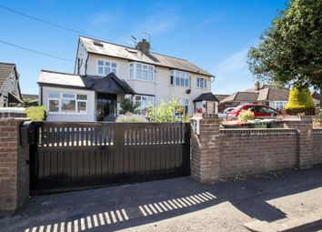 Thumbnail 4 bed semi-detached house for sale in Manor Road, Caddington, Luton