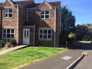 Thumbnail 2 bed semi-detached house to rent in Lancaster Drive, Market Rasen, Lincolnshire