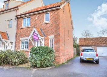 Thumbnail 3 bedroom end terrace house for sale in Salvia Close, Wymondham