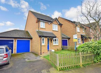 Thumbnail 3 bed detached house for sale in Mitchell Avenue, Hawkinge, Folkestone, Kent