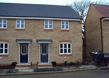 Thumbnail 3 bed semi-detached house to rent in Lucius Close, North Hykeham, Lincoln
